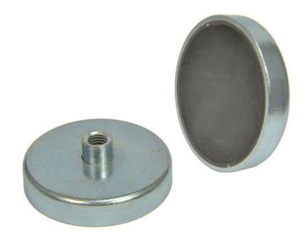D97X22/43  POT mágnes ferrit betéttel M12 belső menetes csappal.