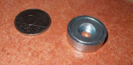 D25x7 POT Neodym mágnes gyűrű betéttel