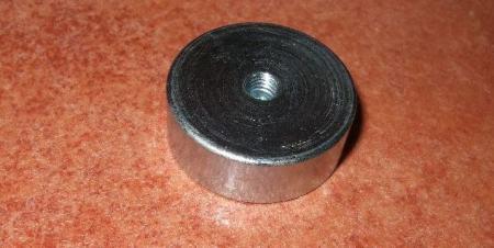 Fazékmágnes D29x10 Neodym mágnessel és M5 menettel POT mágnes
