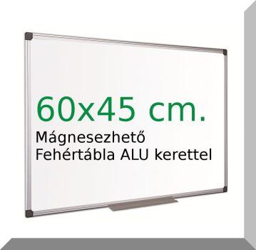 60x45 Cm. fehértábla, mágnesezhető, irható- törölhető- ALU kerettel.