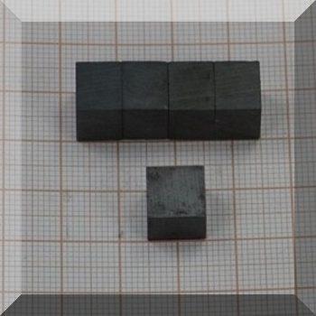10x10x8 mm. Ferrit téglatest mégnes