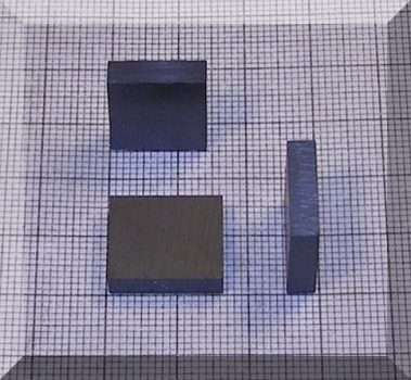 16x14x4 mm. Ferrit téglatest mégnes