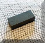 25x10x6 mm. Ferrit téglatest mégnes