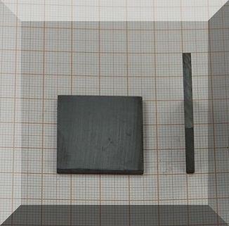 30x30x3 mm. Ferrit téglatest mégnes
