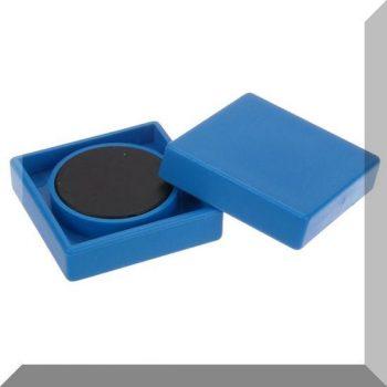 35x35x9mm. Nagy négyzetes irodamágnes ferrit mágnes betéttel - Világos kék