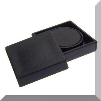 35x35x9mm. Nagy négyzetes irodamágnes ferrit mágnes betéttel - Fekete