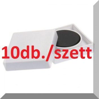 35x35x9mm. 10-es SZETT Nagy négyzetes irodamágnes ferrit mágnes betéttel - Fehér