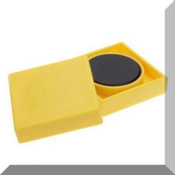 35x35x9mm. Nagy négyzetes irodamágnes ferrit mágnes betéttel - Citrom sárga