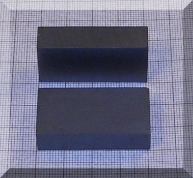 40x20x10 mm. Ferrit téglatest mégnes F30