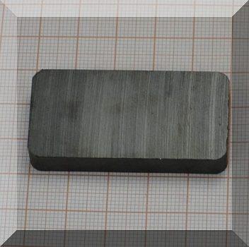 50x25x7,8 mm. Ferrit téglatest mégnes