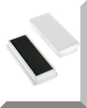 55x23x9mm. Nagy négyzetes irodamágnes ferrit mágnes betéttel - Fehér