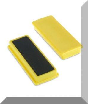 55x23x9mm. Nagy négyzetes irodamágnes ferrit mágnes betéttel - Citrom sárga