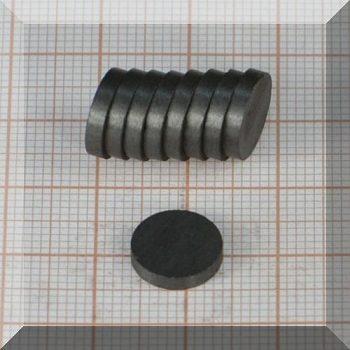 D10x2 mm. Ferrit korong mágnes