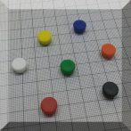 D10x6,5 Ferrit betétes táblamágnes (piros)