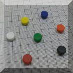 D10x6,5 Ferrit betétes táblamágnes (fehér)