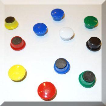D15/d12x8,5mm. Táblamágnes ferrit betéttel (választható színben)