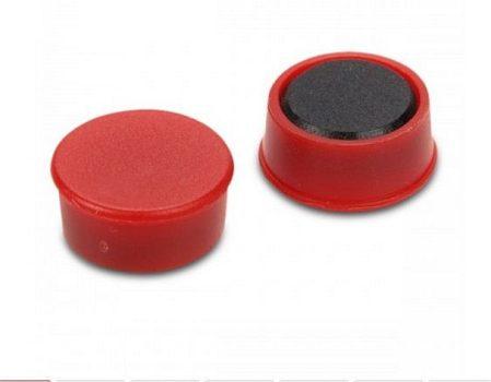 D16x7 Ferrit betétes táblamágnes (piros)