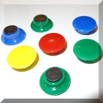 D20/d13x8mm. Táblamágnes ferrit betéttel (választható színben)