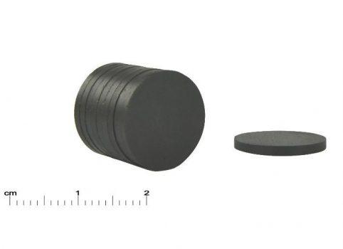 D20x2 mm. Ferrit korong mágnes