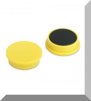 D25x8 Ferrit betétes táblamágnes (citromsárga)