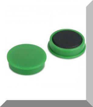 D25x8 Ferrit betétes táblamágnes (zöld)