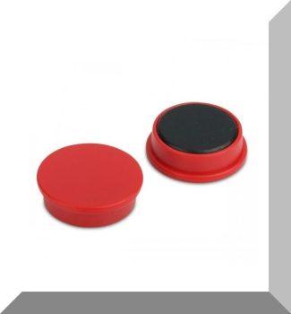 D25x8 Ferrit betétes táblamágnes (piros)