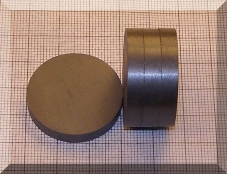 D30x5 mm. Ferrit korong mágnes