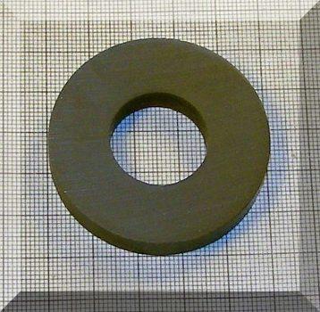 D50/d22x8 mm. Ferrit gyűrű mágnes