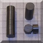 D6x3,7 mm. Ferrit korong mágnes