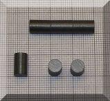 D6x9,7 mm. Ferrit korong mágnes