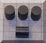 D8x10 mm. Ferrit henger mágnes