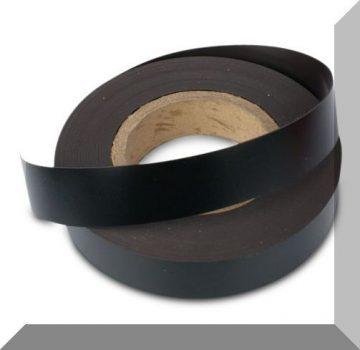 Mágnes fólia 20mm. széles (ár/fm.) Matt fekete