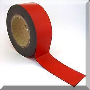 Mágnes fólia 30mm. széles (ár/fm.) Piros