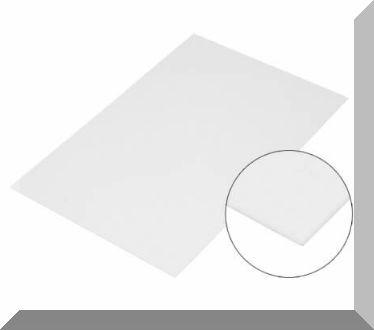 Fehér szinű fémlap. (mágnesezhető, nem mágnes) A4 méretben