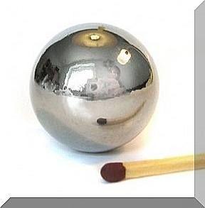 D25 mm. Neodym golyómágnes N40 Króm