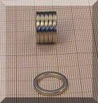 D16/d12x2 mm. N38 NdFeN gyűrű mágnes