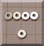 D6/d2x2,5 mm. N38 NdFeB gyűrűmágnes - dia
