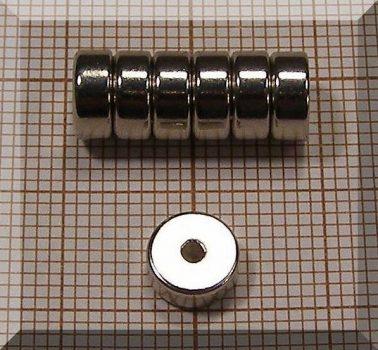D7/d1,5x3 mm. N35 NdFeB gyűrűmágnes - axial