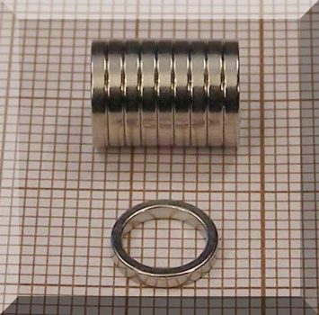 D8/d6,3x1,2 mm. N35 NdFeN gyűrű mágnes