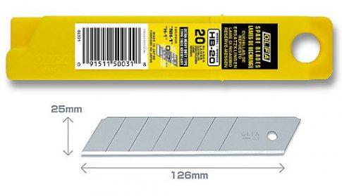 Olfa 25mm. törhető penge 20db./doboz