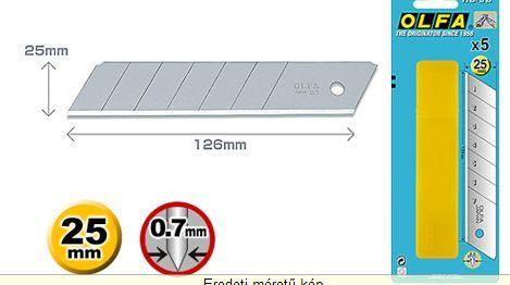 Olfa 25mm. törhető penge 5db./doboz