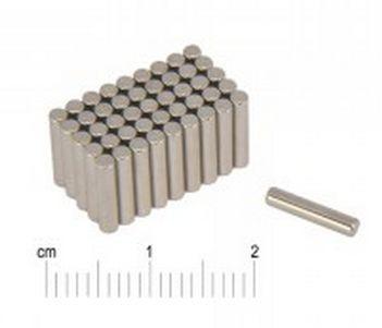 D2x10 mm. N38 Hengeres neodym mágnes