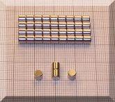 D4x4 NdFeB henger mágnes N38