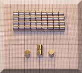 D4x4 NdFeB henger mágnes N45