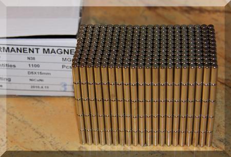 D5x15 N38 Hengeres neodym mágnes