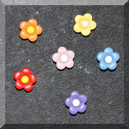 Apró poliresin figura 6db.os szett, kisvirág