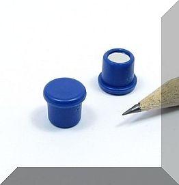 D10x8 mm. Pici Irodamágnes Neodym betéttel. Kék
