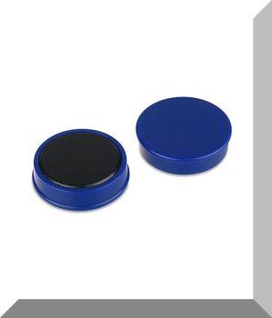 D30x8 mm. Nagy irodamágnes Ferrit betéttel - Kék