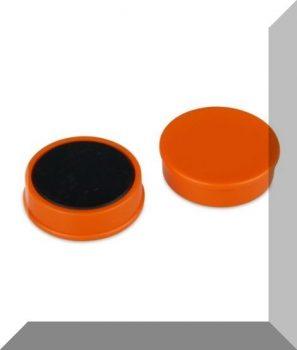 D30x8 mm. Nagy irodamágnes Ferrit betéttel - Narancssárga