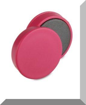 D30x8 mm. Nagy irodamágnes Ferrit betéttel - PINK - Rózsaszín